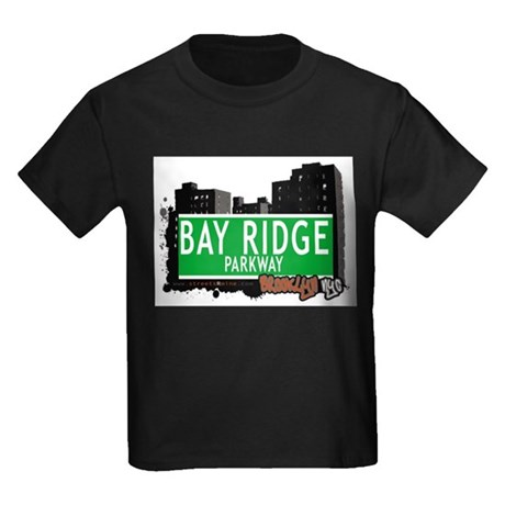 BAY RIDGE PARKWAY, BROOKLYN, NYC Kids Dark T-Shirt