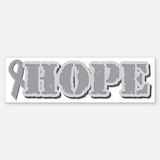 Silver Hope Ribbon Bumper Bumper Bumper Sticker