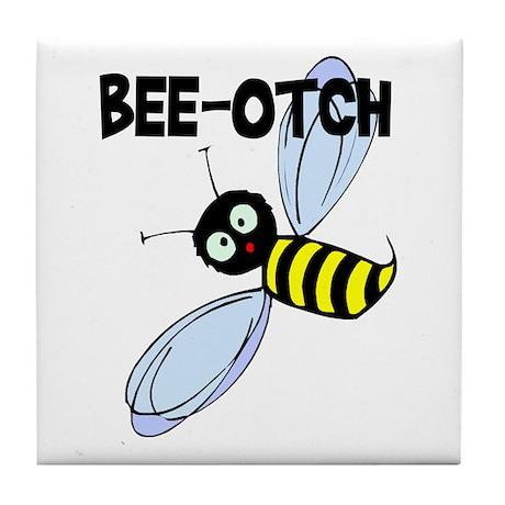 Bee-Otch Tile Coaster