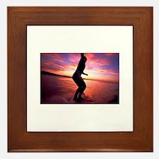Surfer Girl Framed Tile