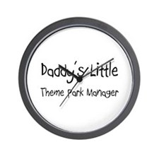 Daddy's Little Theme Park Manager Wall Clock