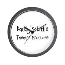 Daddy's Little Theatre Producer Wall Clock