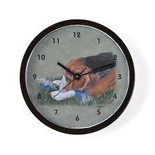 Beagle Down Wall Clock