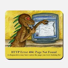 Chupacabra 404 Error Mousepad