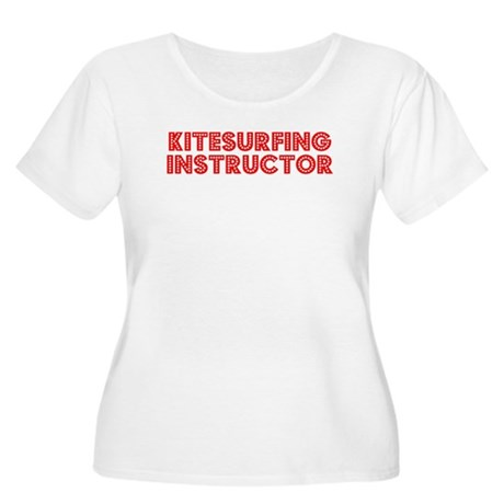 Retro Kitesurfing.. (Red) Women's Plus Size Scoop