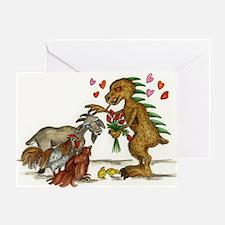 Chupacabra and Goat Friendship Card