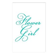 Elegant Font Flower Girl Postcards (Package of 8)