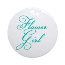 Elegant Font Flower Girl Ornament (Round)