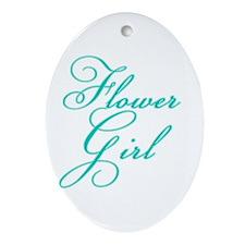 Elegant Font Flower Girl Oval Ornament