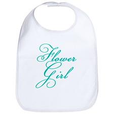 Elegant Font Flower Girl Bib