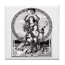 Triple Goddess Tile Coaster