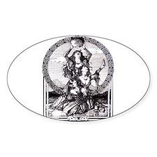 Triple Goddess Oval Decal