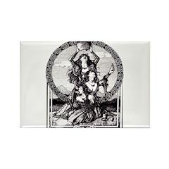 Triple Goddess Rectangle Magnet (100 pack)