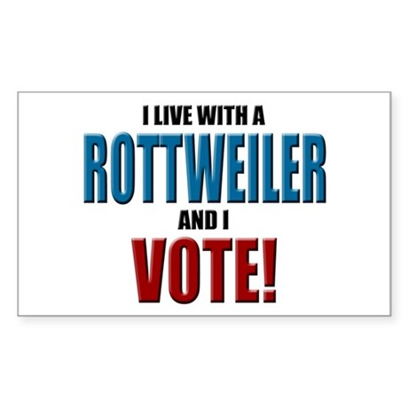 Rottweiler Vote Rectangle Sticker
