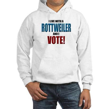 Rottweiler Vote Hooded Sweatshirt