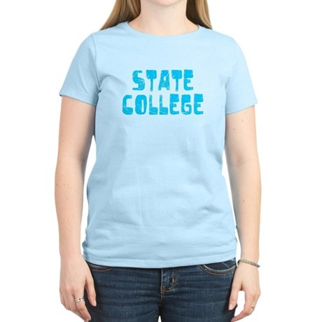 State College Faded (Blue) Women's Light T-Shirt