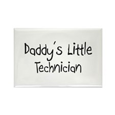 Daddy's Little Technician Rectangle Magnet