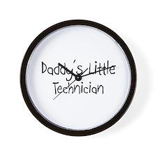 Daddy's Little Technician Wall Clock