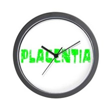 Placentia Faded (Green) Wall Clock