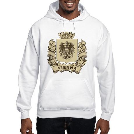 Stylized Vienna Crest Hooded Sweatshirt