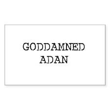 GODDAMNED ADAN Rectangle Decal