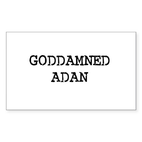 GODDAMNED ADAN Rectangle Sticker