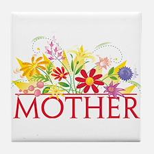 Floral Mother Tile Coaster