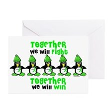 Winter Penguin 5 (Lime) Greeting Cards (Pk of 20)