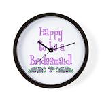 Happy To Be a Bridesmaid Wall Clock
