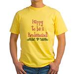 Happy To Be a Bridesmaid Yellow T-Shirt