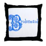 Celtic Blue Bridesmaid Throw Pillow