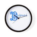 Celtic Blue Bridesmaid Wall Clock