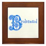 Celtic Blue Bridesmaid Framed Tile