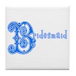 Celtic Blue Bridesmaid Tile Coaster