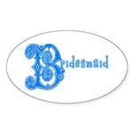 Celtic Blue Bridesmaid Oval Sticker (10 pk)