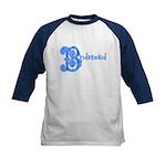 Celtic Blue Bridesmaid Kids Baseball Jersey