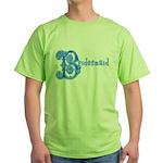 Celtic Blue Bridesmaid Green T-Shirt