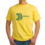 Celtic Blue Bridesmaid Yellow T-Shirt