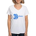 Celtic Blue Bridesmaid Women's V-Neck T-Shirt