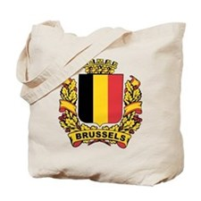 Stylized Brussels Crest Tote Bag