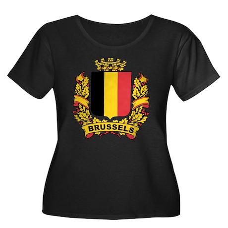 Stylized Brussels Crest Women's Plus Size Scoop Ne
