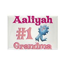 Aaliyah - #1 Grandma Rectangle Magnet