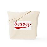 Seaver (red vintage) Tote Bag