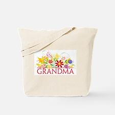 Floral Grandma Tote Bag