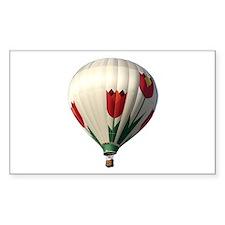 Helaine's Hot Air Balloon 6 Rectangle Decal