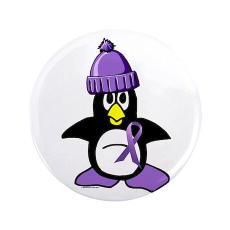 "Winter Penguin 1 Hodgkin's Lymphoma 3.5"" Button"