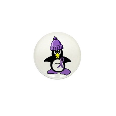 Winter Penguin 1 Hodgkin's Lymphoma Mini Button (1