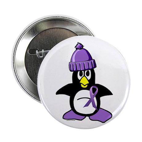 "Winter Penguin 1 Hodgkin's Lymphoma 2.25"" Button"