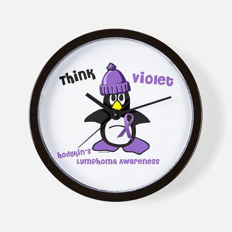 Winter Penguin 2 Hodgkin's Lymphoma Wall Clock