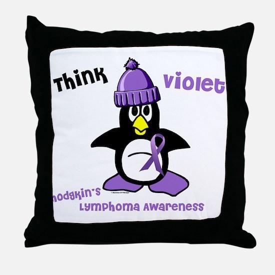 Winter Penguin 2 Hodgkin's Lymphoma Throw Pillow